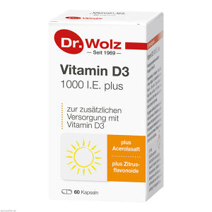Vitamin D3 1000 I.E. plus Dr. Wolz